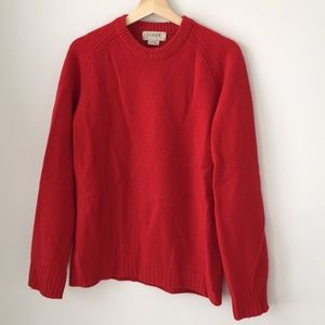 Red Men's JCrew Crewneck Sweater
